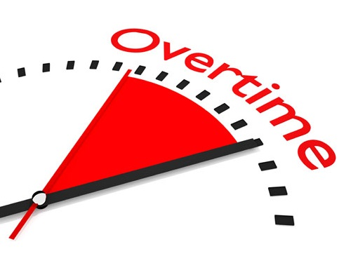 This image is about employee overtime management.